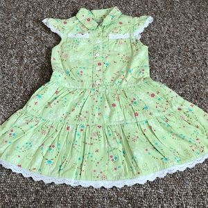 George Girls 3T Toddlers Light Lime Green Dress